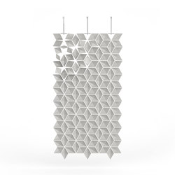 Hanging Room Divider Facet - pearlgray | Folding screens | Bloomming