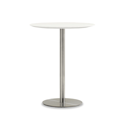 Quiet Round Bar Height Table | Mesas altas | Bernhardt Design