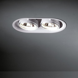 Thub metal 215 2x CDM-R111 GE | Recessed ceiling lights | Modular Lighting Instruments