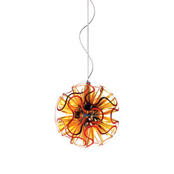 Coral Ball Suspension | Orange | Allgemeinbeleuchtung | QisDesign