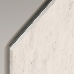 Lato Finishes drawer front - White Carrara marble      Agape