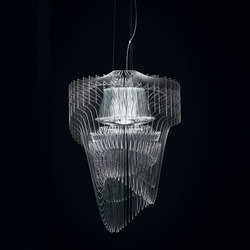 Aria Transparent suspension | Suspended lights | Slamp