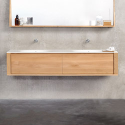 Qualitime Hanging structure & Corian Top | Meubles sous-lavabo | Ethnicraft