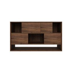 Walnut Nordic Low rack | Sideboards | Ethnicraft