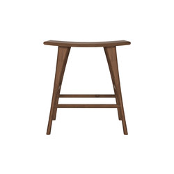 Walnut Osso stool | Barhocker | Ethnicraft