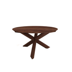 Walnut circle round dining table | Restauranttische | Ethnicraft