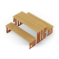 Pic Nic | Benches with tables | Metalco