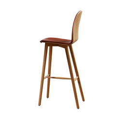 Nam Nam Wood Bar Stool upholstered | Sgabelli bancone | 8000C