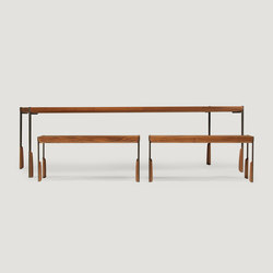altai dining table and bench | Bancos y mesas para restaurantes | Skram