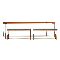 altai dining table and bench | Tables et bancs de restaurant | Skram