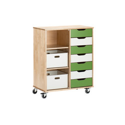 Otto modular cabinet OT72AL | Kids storage furniture | Woodi