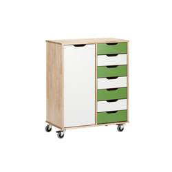 Otto modular cabinet OT72OL | Kids storage furniture | Woodi