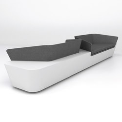 Mono Seat configuration 4 | Waiting area benches | Isomi