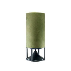 Cylinder Tall terracotta moss | Speakers | Architettura Sonora
