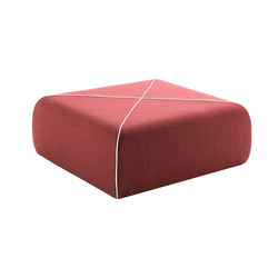 CROSSED Pouf square large | Poufs | B-LINE