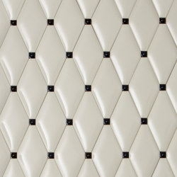 Capitonné pearl rounded with black insets | Ceramic tiles | Petracer's Ceramics