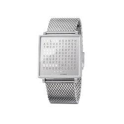QLOCKTWO® W Fine Steel | Armbanduhren | BIEGERT&FUNK
