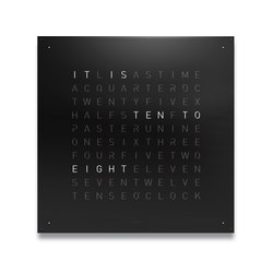 QLOCKTWO® LARGE Black Pepper | Clocks | BIEGERT&FUNK
