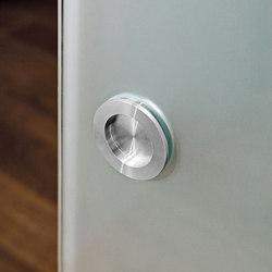 Zubehör | Edelstahlmuschelgriff rund | Pull handles for glass doors | Glas Marte