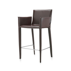 High End Bar Stools With Seat In Leather On Architonic
