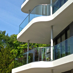 GM RAILING® Bent | Glass balustrade panels | Glas Marte