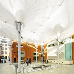 Type E Tulip umbrella | Textile buildings | MDT-tex