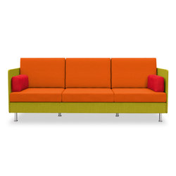 Atelier three-seater, height 77 cm | Lounge sofas | Dauphin