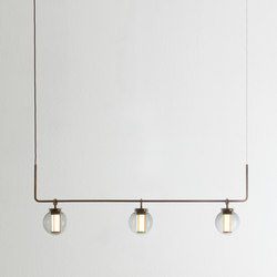 Bai chandelier III | Pendant lights in steel | PARACHILNA
