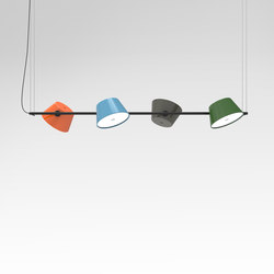 General lighting-Pendant lights in aluminium-Suspended lights-Tam Tam 4-Marset