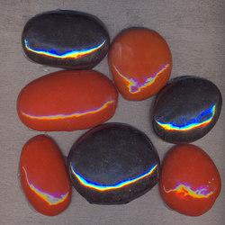 Serie Ciotoli PO mix Metalli Arancio selenio rame | Mosaike | La Riggiola