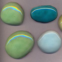 Serie Ciotoli PO mix verde | Ceramic mosaics | La Riggiola
