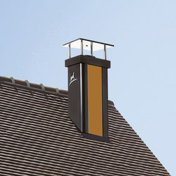 Luminance Nuanciel yellow chimney stack | Chimney solutions | Poujoulat