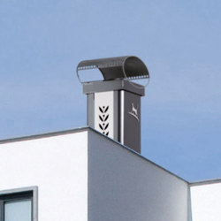 Luminance Graphinox chimney stack | Chimney solutions | Poujoulat