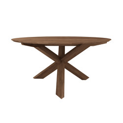 Teak circle dining table | Restaurant tables | Ethnicraft