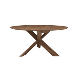 Teak circle dining table | Mesas para restaurantes | Ethnicraft