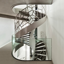 Helical Stairs Wood | Cells Balustrade TWE-535 | Metal stairs | EeStairs
