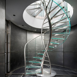 DNA | Floating | Helical Stairs Glass TWE-707 | Staircase systems | EeStairs
