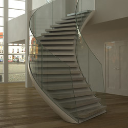 eesoffit curved escaleras de metal eestairs