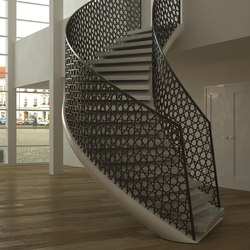 EeSoffit Curved | Metal stairs | EeStairs