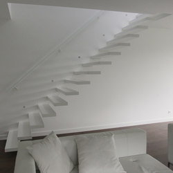 Floating Stairs Wood TRE-534 | Wood stairs | EeStairs