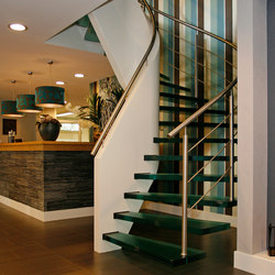 Floating Stairs Glass TWE-465 | Glass stairs | EeStairs