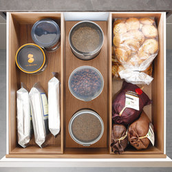 DRAWERS SYSTEM - WALNUT | Kitchen products | Poggenpohl