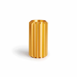 Gear Candle Holder Gold Anodized Aluminium | Tall | Candlesticks / Candleholder | NEW WORKS