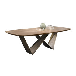 Prisma 72 Steel Wood | Dining tables | Reflex