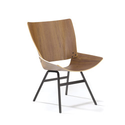 Shell Lounge walnut | Lounge chairs | Rex Kralj