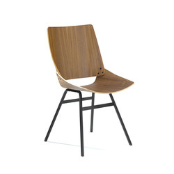Shell Chair Walnut | Visitors chairs / Side chairs | Rex Kralj