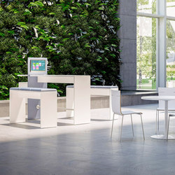 Sistema 28 | Standing meeting tables | Fantoni