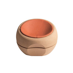 Spherical Cork Armchair with Cushion | Sessel | Movecho