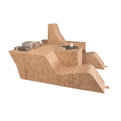 Tumble Cork Chair&Table | Modular seating systems | Movecho
