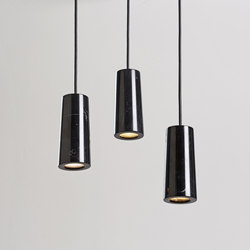 Core | Three Pendant Cluster in Nero Marquina Marble | Suspended lights | Terence Woodgate